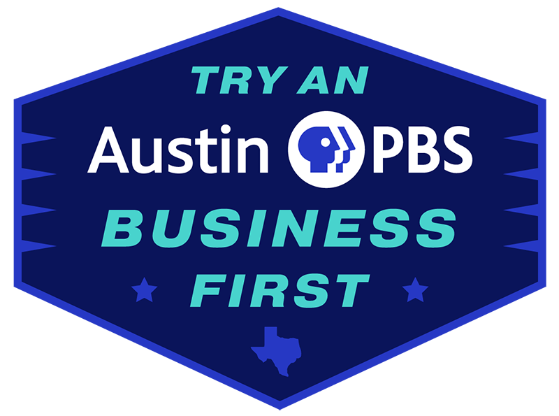 Seal that says Try an Austin PBS Business First