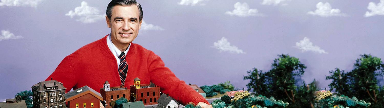 Fred Rogers with his neighborhood.